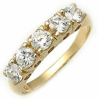 Luxury Jewelry Womens White Topaz Gold Filled Wedding Engagement Ring Size 6-10