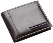 Tommy Hilfiger Mens Brown Leather Cambridge Passcase Wallet with RFID Security
