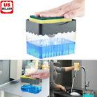 2 in1 Kitchen Liquid Soap Pump Dispenser ABS Sponge Holder Press Countertop Rack photo