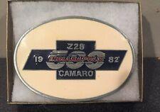 Vintage 1982 Indianapolis 500 Chevy Z28 Camaro enamel Belt Buckle  MADE IN USA