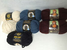 Lion Brand Wool-Ease THICK & QUICK Yarn~Lot of 7~4 Colors ~6 oz skeins~FREE SHIP