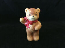 Lucy & Me Red Bow Bear Waving Lucy Rigg Enesco