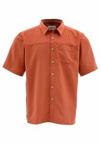 Simms Fly Fishing Long Haul UPF 30+ Simms Orange S/S Shirt - Choose Size - NEW!