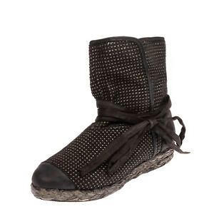 RRP €165 BALDININI TREND Ankle Boots EU 39 UK 6 US 9 Knitted Esparto Rope Sole