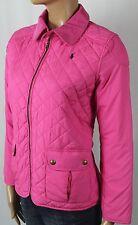 Children Ralph Lauren Pink Quilted Jacket Full Zip Corduroy Collar NWT