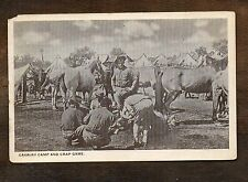 """Cavalry Camp and Crap Game"" ~ Vintage WWI YMCA Postcard"