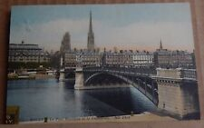 Postcard WW1 Rouen 1917 Bridge & Cathedral Army post office Stamp