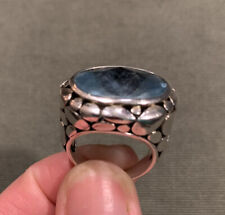 Sterling Silver And Blue Topaz Ring Size 8