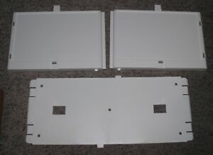 Brand new In Box Cabinet? UNIVERSAL RACK SIDES & BACK-White Plastic