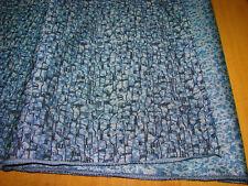 Ancien vintage tissu bleu gris au mètre automobile ameublement Revetement
