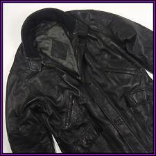 YSL YVES SAINT LAURENT Size 52/ 3XL MEN'S VINTAGE BLACK VERY SOF LEATHER JACKET