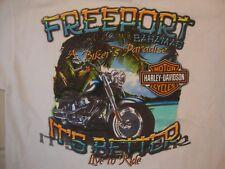 Harley-Davidson Motorcycles Freeport Bahamas White T Shirt Size M