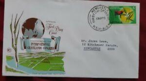 1970 Australia 2 Wesley fdc Anpex and  Grasslands congress