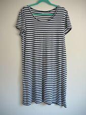Uniqlo T Shirt Dress XL Blue White Stripe T Shirt Dress