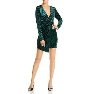 LINI Womens Natalie Velvet Animal Print Mini Party Dress BHFO 1318