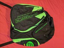 E-Force Racquetball Club Racquet Bag Black w/ Green Graphics Dual Carry Strap