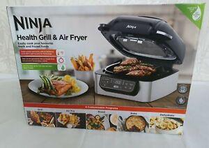 NINJA Foodi AG301UK Health Grill & Air Fryer - Black & Brushed Steel - BRAND NEW