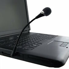 """6"""" Travel Mini Flexible Hold 3.5mm Stereo Microphone for Laptop/Notebook, S"""