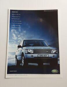 Range Rover Advert from 2003 - Original