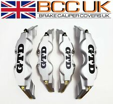 BIG Silver Brake Caliper Covers DIY Kit GTD Line Logo Front Rear 4x L+M fits VW