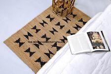 Handmade Jute Wool Kilim Rug Modern Geometric 3x4 Feet Area Rug Indian Door Mat