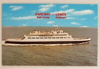 Ferry Boat Cape May,New Jersey to Lewes,Delaware Chrome Postcard