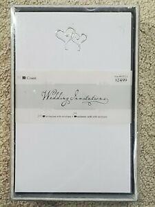 Hobby Lobby Wedding Invitations, Enclosures + Envelopes - 39 Ct – Silver Hearts