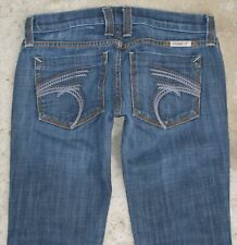 Frankie B Jeans Womens Low Rise Bootcut Size 0  F pockets Distressed
