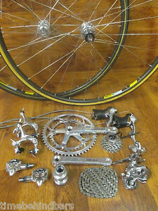 VINTAGE ORIGINAL SHIMANO DURA ACE 8 SPEED GROUP GRUPPO BUILD KIT MAVIC WHEELS