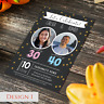 Personalised Joint Adult Birthday Party Invitations & Thank You Cards with Photo