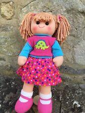 Personalised Rag Doll Cara Christening New Baby Flower Girl 38 cm Ragdoll