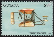 1903 Frères Wright Flyer I AIRCRAFT STAMP (1998 Guyana)