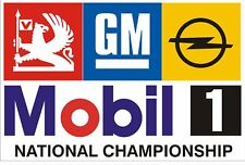 Pair of National Championship GM Mobil 1 Stickers