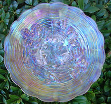 """MINT&PERF~c1910""""NORTHWOOD""""CARNIVAL GLASS""""SRC""""ELEC""""FROSTY""""WHITE""""ROSE SHOW""""9""""PLATE"""