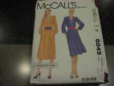 Uncut Vintage McCalls Pattern Dress 10 Charlotte Ford