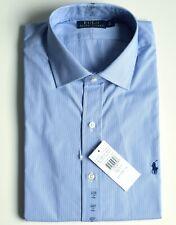 RALPH LAUREN Herren Hemd Regent Custom Fit Langarm gestreift Größe 17 entspr.43