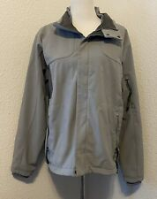 Mens SALOMON Smart Skin Nylon Warm Ski Jacket Gray Fleece Lined Coat Medium