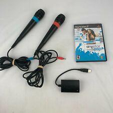 PS2 Playstation 2 Singstar Pop Microphones USB Converter Bundle Game