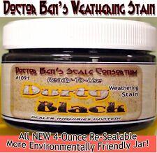 Durty Black Weathering Stain-4oz Doctor Ben's Wood Plastic Metal Resin ots0232