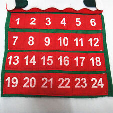 Stocking Santa Claus Christmas Advent Calendar Countdown Xmas Fabric Blackboards