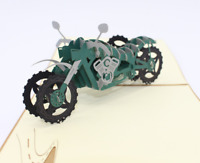 Military motorcycle 3D PopUp Greeting Card Birthday Thanksgiving Christmas  47