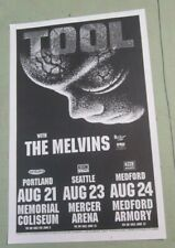 Tool and Melvins 1998 Seattle Portland Medford Concert Original Show Poster