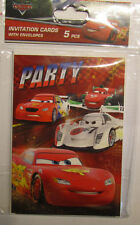 Disney Cars *5 Einladungskarten + Umschlag*Geburtstag * Party*Neu*OVP (Rennen)