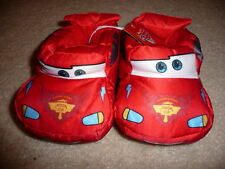 NWT CARS Lightning McQueen Toddler 5/6 Slippers Disney NEW Plush Hard to find