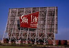 Star Lite Drive-In Movie Theater Fargo North Dakota 5x7 Color B&W Photo