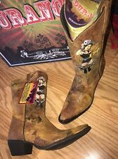 Durango Crush Brown Cowgirl Western Boots RD012 Cognac Pin Up Girl Women's 6.5 M