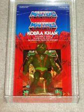 Vintage 1984 HE-MAN MOTU AFA 75/85/85 KOBRA KHAN SERIES 3 Carded MOC UNPUNCHED!