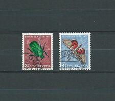 SWISS / SUISSE - PAPILLONS 1957 YT 600 à 601 / MI 651 à 652 - USED - COTE 9,25 €