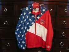 U.S. OLYMPIC TEAM 1996 STARTER FLAG JACKET LARGE OFFICIAL LICENSED PRODUCT