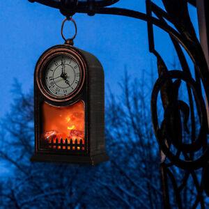 LED Fireplace Lantern Table/Hanging Lamp Christmas Halloween Home Night Light